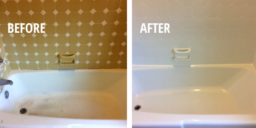 before and after bathtub refinished