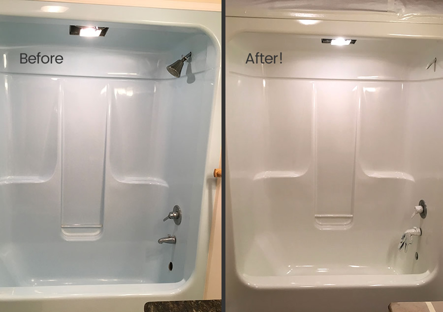 fiberglass tub refinished