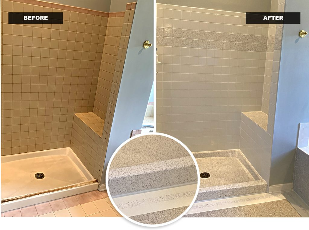 Refinished Tile Wall