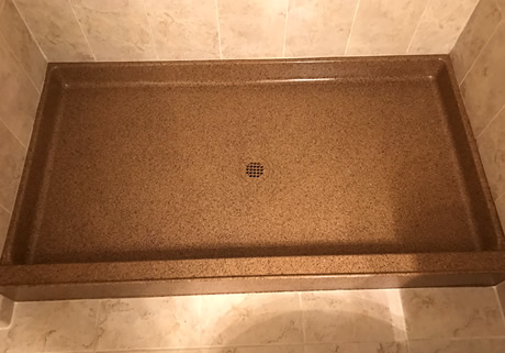 reglazed shower pan