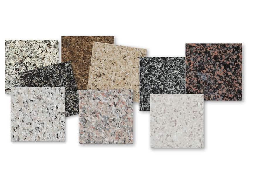 test granite colors