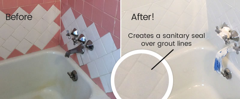 sealed grout lines